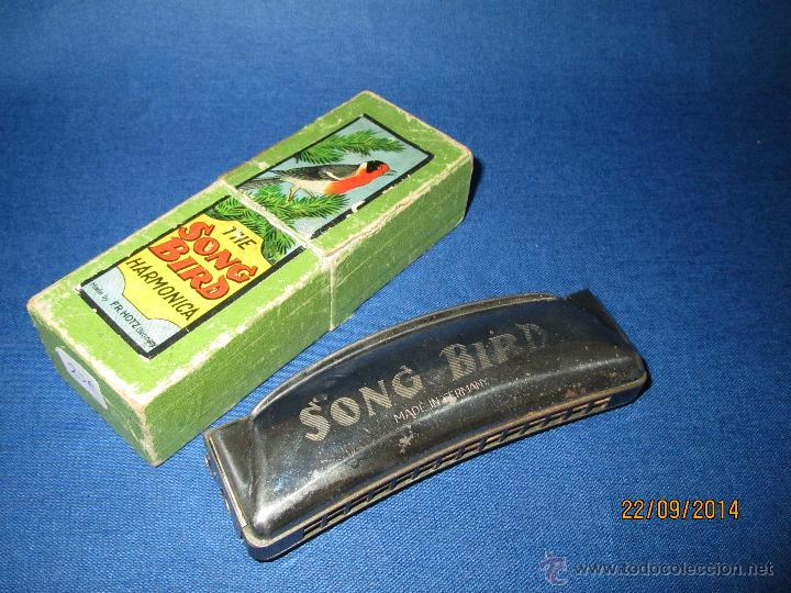 Instrumentos musicales: Antigua Armónica * THE SOND BIRD * Made in Germany en Caja Original - Año 1970s. - Foto 2 - 45372690