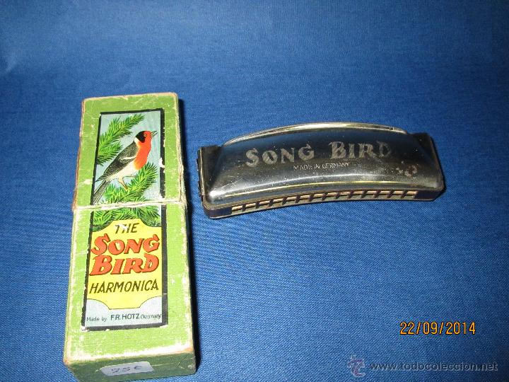 Instrumentos musicales: Antigua Armónica * THE SOND BIRD * Made in Germany en Caja Original - Año 1970s. - Foto 3 - 45372690