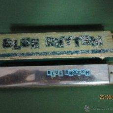 Instrumentos musicales: ANTIGUA ARMÓNICA * BLUE RHYTHM * EN CAJA ORIGINAL - AÑO 1950S.. Lote 45387149