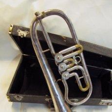 Instrumentos musicales: FLISCORNO AUGUST ROTT, FABRICADO EN PRAGA. CON MALETA.. Lote 126452238