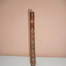 Instrumentos musicales: FLAUTA DE MADERA CON LA BASE DE METAL. Lote 45605787