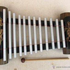 Instruments Musicaux: XILOFONO , INSTRUMENTO MUSICAL ,LAGARTO TORTUGA , CAÑA DE BAMBU Y METAL, INST365. Lote 45694471