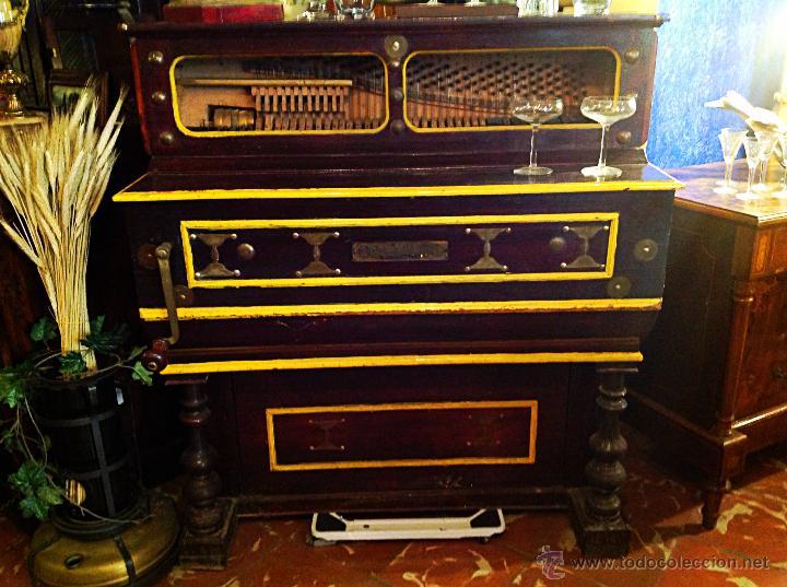 Instrumentos musicales: ORGANILLO DE MANUBRIO LUIS CASALI DE 1900 APROX FUNCIONA - Foto 3 - 45931429