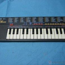 Instrumentos musicales: ANTIGUO TECLADO PIANO DE NIÑO JUGUETE CASIO SA1 100 SOUND TONE BANK ORGANO. Lote 47123398