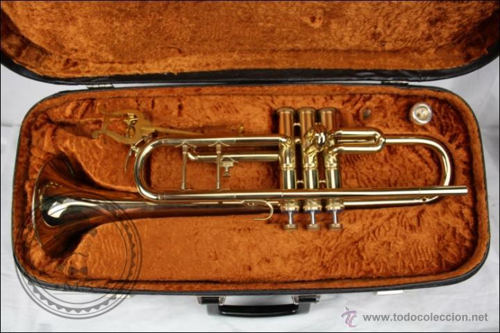 TROMPETA AMATI KRASLICE - FABRICADA EN CHECOSLOVAQUIA - CON FUNDA Y BOQUILLA - 57 X 16 X 25 CM CAJA (Música - Instrumentos Musicales - Viento Metal)
