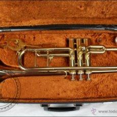 Instrumentos musicales: TROMPETA AMATI KRASLICE - FABRICADA EN CHECOSLOVAQUIA - CON FUNDA Y BOQUILLA - 57 X 16 X 25 CM CAJA. Lote 47166219