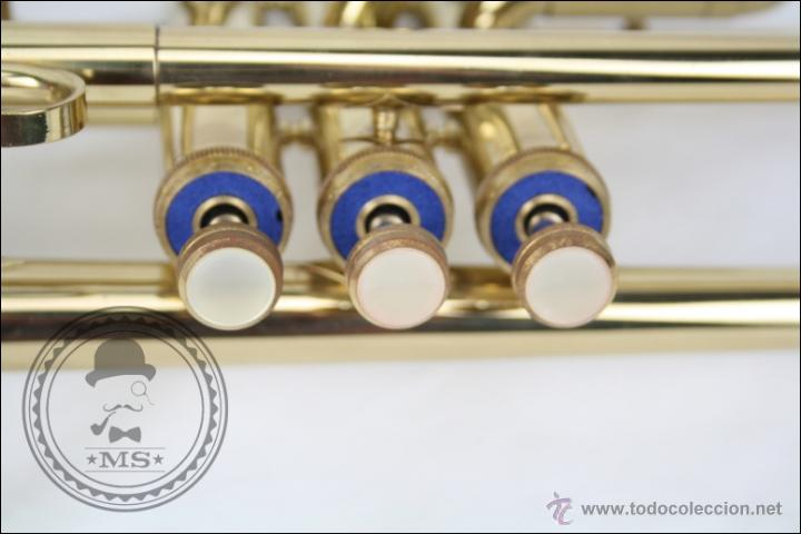 Instrumentos musicales: Trompeta Amati Kraslice - Fabricada en Checoslovaquia - Con Funda y Boquilla - 57 x 16 x 25 Cm Caja - Foto 12 - 47166219