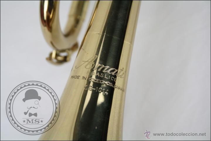 Instrumentos musicales: Trompeta Amati Kraslice - Fabricada en Checoslovaquia - Con Funda y Boquilla - 57 x 16 x 25 Cm Caja - Foto 13 - 47166219