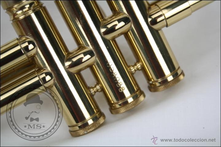 Instrumentos musicales: Trompeta Amati Kraslice - Fabricada en Checoslovaquia - Con Funda y Boquilla - 57 x 16 x 25 Cm Caja - Foto 14 - 47166219