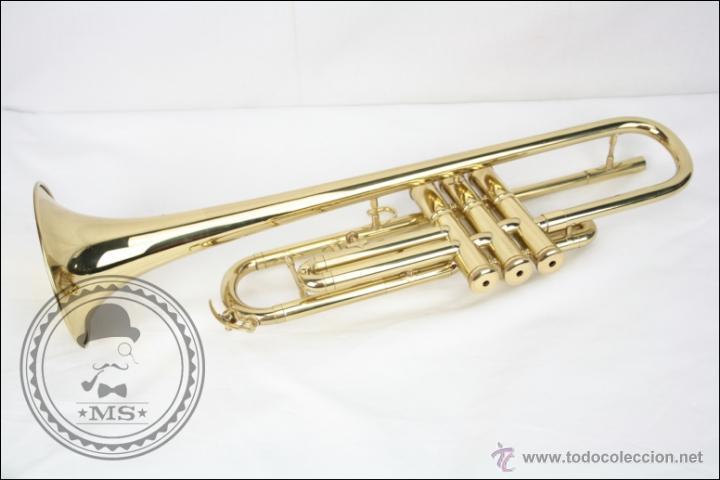 Instrumentos musicales: Trompeta Amati Kraslice - Fabricada en Checoslovaquia - Con Funda y Boquilla - 57 x 16 x 25 Cm Caja - Foto 15 - 47166219