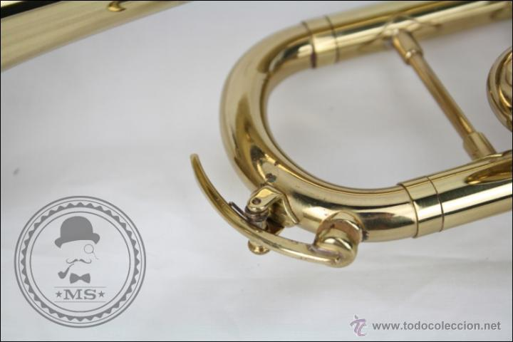 Instrumentos musicales: Trompeta Amati Kraslice - Fabricada en Checoslovaquia - Con Funda y Boquilla - 57 x 16 x 25 Cm Caja - Foto 16 - 47166219