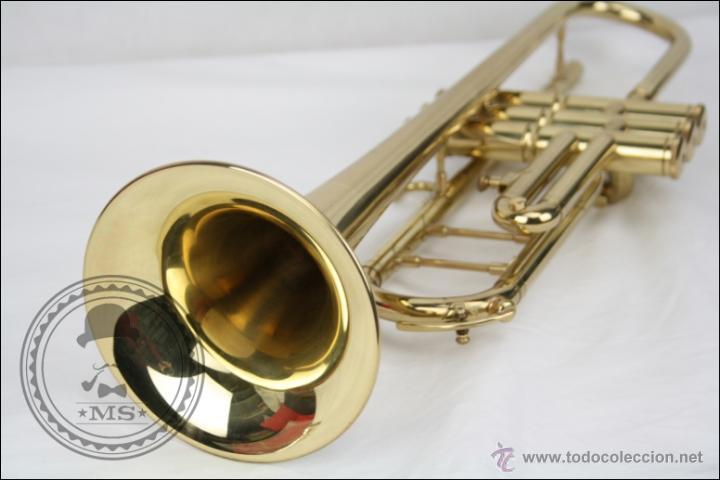 Instrumentos musicales: Trompeta Amati Kraslice - Fabricada en Checoslovaquia - Con Funda y Boquilla - 57 x 16 x 25 Cm Caja - Foto 18 - 47166219