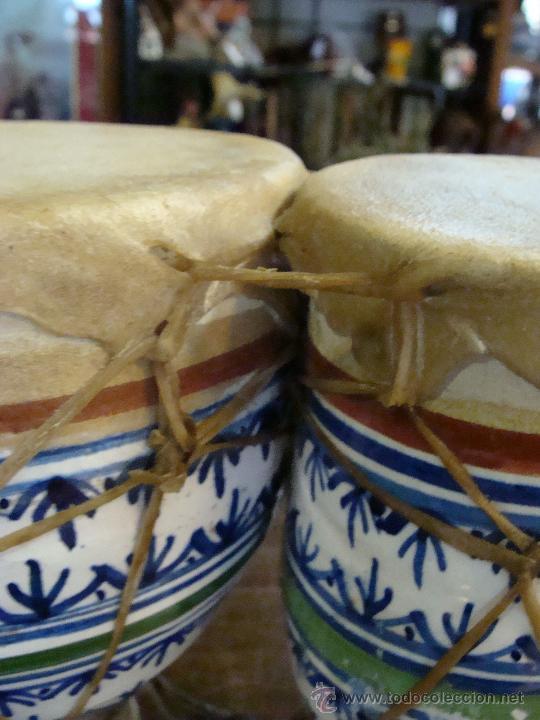 Instrumentos musicales: BONGOS O TAMBORES DOBLES AFRICANOS EN CERÁMICA MUY DECORATIVOS - Foto 6 - 47644037