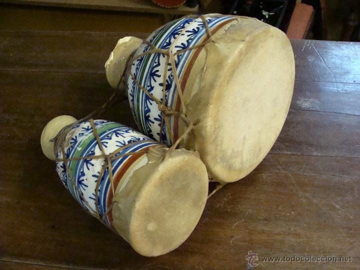 Instrumentos musicales: BONGOS O TAMBORES DOBLES AFRICANOS EN CERÁMICA MUY DECORATIVOS - Foto 22 - 47644037