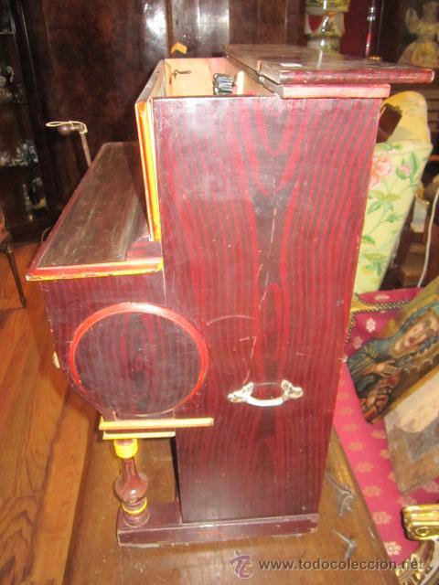Instrumentos musicales: Antiguo organillo Vicente Llinares - Barcelona, con dos rodillos. Funcionando.Clavijero nuevo. - Foto 5 - 48143521