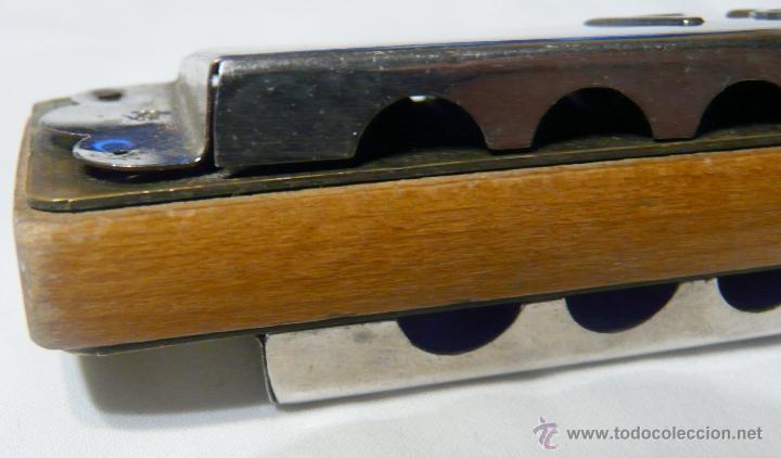 Instrumentos musicales: HARMONICA ANTIGUA MADERA Y METAL - OPERA , MADE IN POLAND - Foto 5 - 48324935