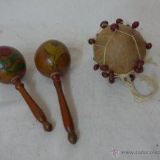 Instrumentos musicales: LOTE DE 2 ANTIGUO INSTRUMENTO MUSICA DE PERCUSION, DE AMERICA LATINA. Lote 48601389