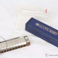 Instrumentos musicales: ARMÓNICA DIATÓNICA BLUES HARP MS, DE HOHNER - CON CAJA Y FOLLETO ORIGINALES - EN D - 12 X 3,5 X 3 CM. Lote 49322764