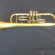 Instrumentos musicales: ANTIGUA TROMPETA ALEMANA,BOQUILLA PLATA.. Lote 49387109