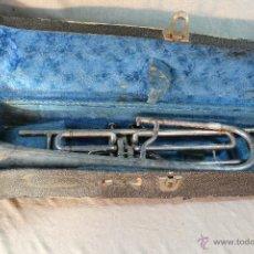 Instrumentos musicales: TROMBON DE PISTONES ANTIGUO. Lote 49457380