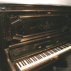Instrumentos musicales: PIANO ANTIGUO MARCA RONISCH. AÑO 1880. CLAVIJERO METÁLICO.. Lote 49642944
