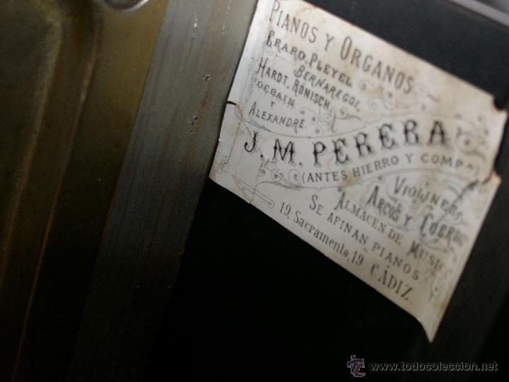 Instrumentos musicales: PIANO ANTIGUO MARCA RONISCH. AÑO 1880. CLAVIJERO METÁLICO. - Foto 5 - 49642944