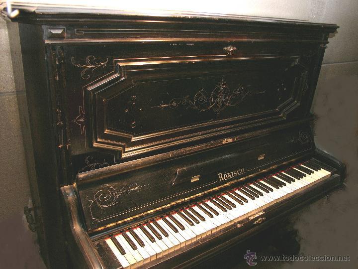 Instrumentos musicales: PIANO ANTIGUO MARCA RONISCH. AÑO 1880. CLAVIJERO METÁLICO. - Foto 6 - 49642944