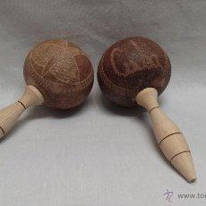 Instrumentos musicales: MARACAS DE MADERA DE CUBA . Lote 71416394