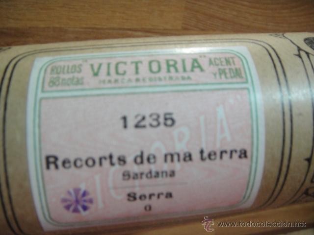Instrumentos musicales: rollo para pianola marca victoria - 88 notas - sardana recorts de ma terra , autor serra - Foto 2 - 50082630
