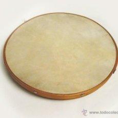 Instrumentos musicales: ANTIGUO Y CURIOSO TAMBOR PLANO DE MADERA Y PIEL .. Lote 50094651