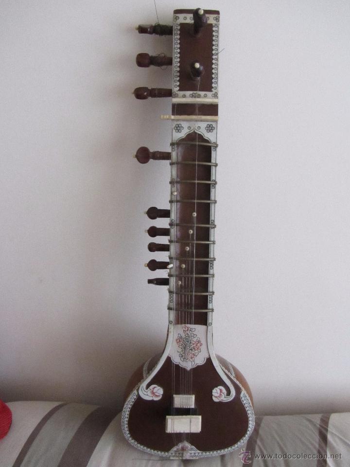 SITAR ANTIGUO DE 12 CUERDAS (Música - Instrumentos Musicales - Cuerda Antiguos)
