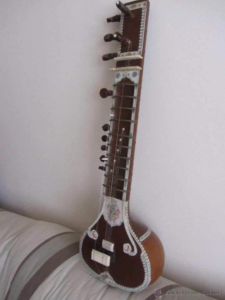 Instrumentos musicales: Sitar Antiguo de 12 Cuerdas - Foto 2 - 144015893