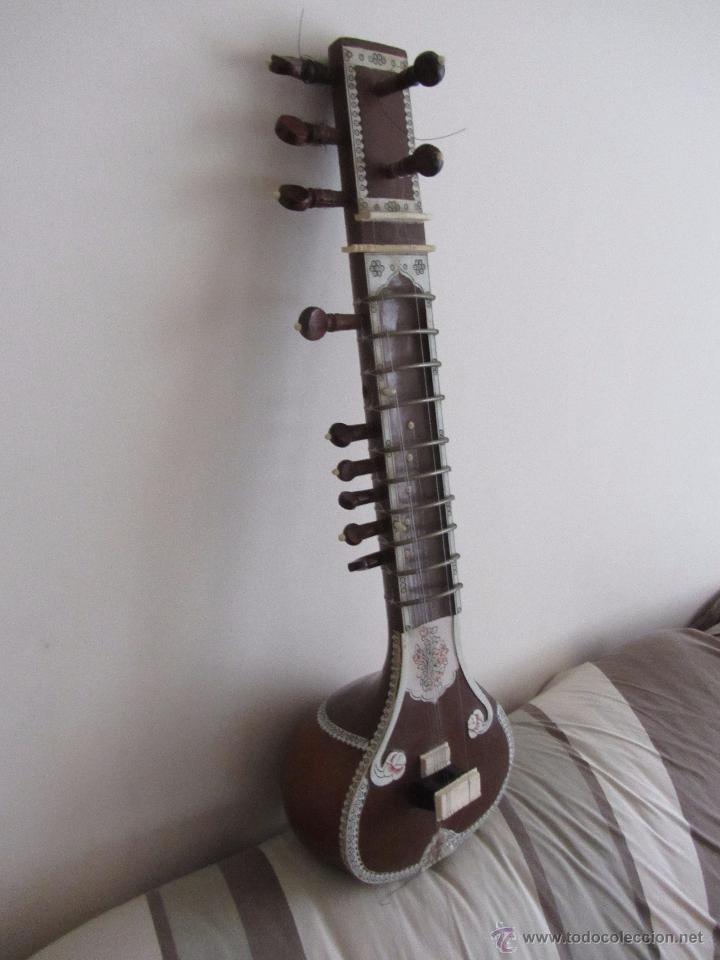Instrumentos musicales: Sitar Antiguo de 12 Cuerdas - Foto 3 - 144015893
