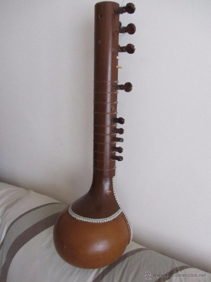 Instrumentos musicales: Sitar Antiguo de 12 Cuerdas - Foto 5 - 144015893