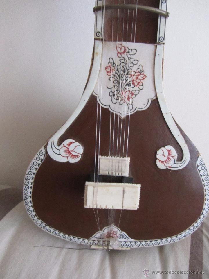 Instrumentos musicales: Sitar Antiguo de 12 Cuerdas - Foto 6 - 144015893