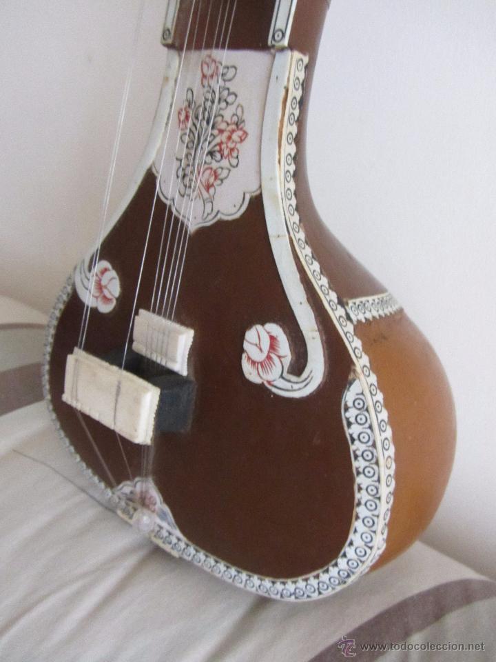 Instrumentos musicales: Sitar Antiguo de 12 Cuerdas - Foto 7 - 144015893