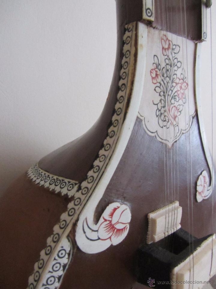 Instrumentos musicales: Sitar Antiguo de 12 Cuerdas - Foto 12 - 144015893