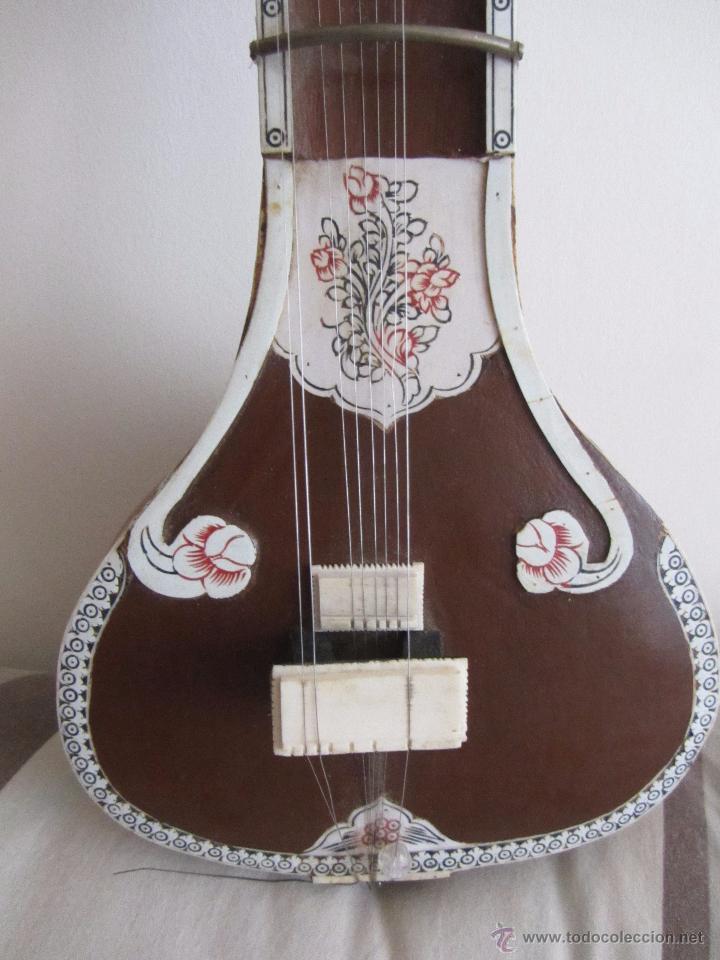 Instrumentos musicales: Sitar Antiguo de 12 Cuerdas - Foto 14 - 144015893