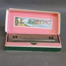 Instrumentos musicales: ANTIGUA ARMONICA HOHNER ECHO HARP EN SU CAJA ORIGINAL. ALEMANIA 1950 - 1955. Lote 50664278