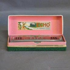 Instrumentos musicales: ANTIGUA ARMONICA HOHNER ECHO HARP EN SU CAJA ORIGINAL. ALEMANIA 1950 - 1955. Lote 50664368