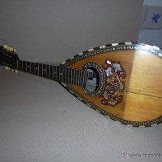 Instrumentos musicales: ANTIGUA MANDOLINA - DIFERENTES MADERAS , MARQUETERIAS , NACAR ( MADRE PERLA ) HUESO ETIQUETA INTERIO. Lote 51029313