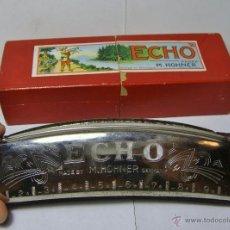 Instrumentos musicales: ARMÓNICA EN SU ESTUCHE ORIGINAL. ECHO - HOHNER, MADE IN GERMANY.. Lote 51029639
