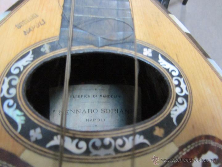 Instrumentos musicales: Antigua Mandolina Gennaro Soriani - Napoli - Foto 11 - 51939645