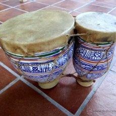 Instrumentos musicales: BONGO O TIMBAL DOBLE ARABE. Lote 57632196