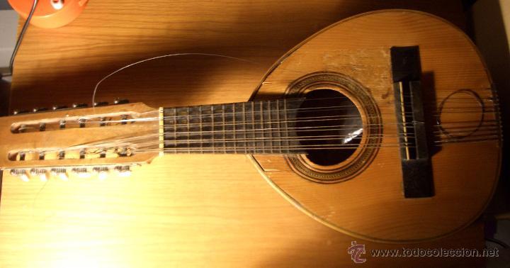 BANDURRIA ANTIGUA AÑOS 50 - 60 (Música - Instrumentos Musicales - Cuerda Antiguos)
