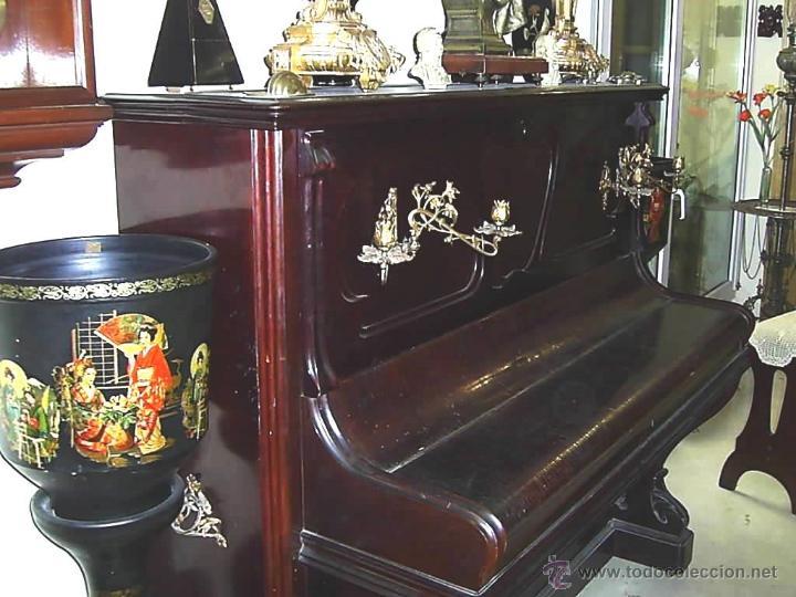 Instrumentos musicales: PIANO MODERNISTA AÑO 1900. CHASSAIGNE FRÉRES - Foto 10 - 52519480