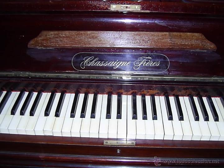 Instrumentos musicales: PIANO MODERNISTA AÑO 1900. CHASSAIGNE FRÉRES - Foto 12 - 52519480