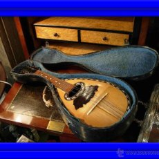 Instrumentos musicales: FANTASTICA MANDOLINA DE MADERA DE PALISANDRO Y NACAR CON SU CAJA. Lote 52699940