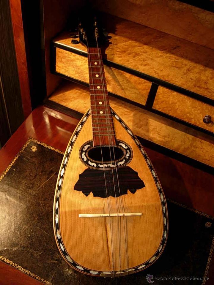 Instrumentos musicales: FANTASTICA MANDOLINA DE MADERA DE PALISANDRO Y NACAR CON SU CAJA - Foto 2 - 52699940