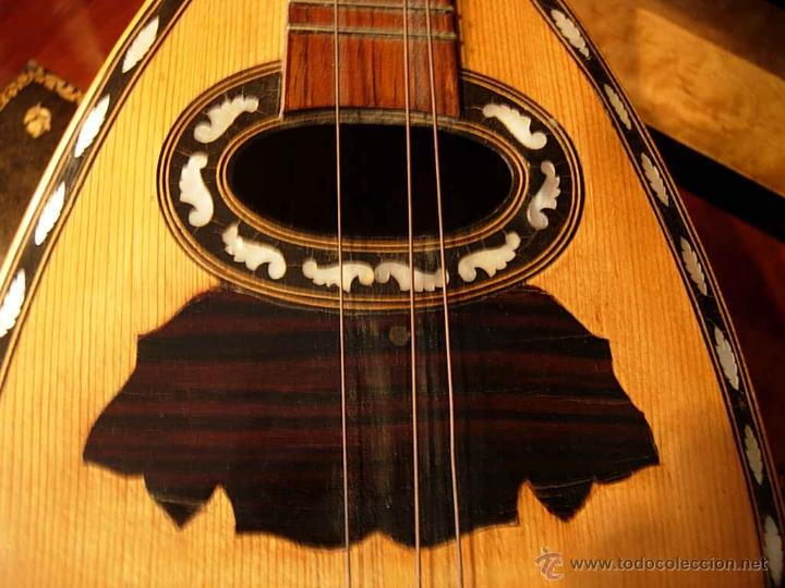 Instrumentos musicales: FANTASTICA MANDOLINA DE MADERA DE PALISANDRO Y NACAR CON SU CAJA - Foto 3 - 52699940